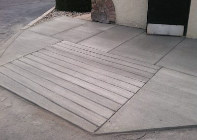 Concrete Entry Ramp in El Paso County, Colorado Built by PSF Company