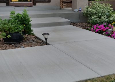 Concrete Walkway Entry in El Paso County, Colorado Built by PSF Company