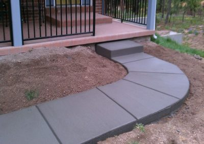 Concrete Residential Entry Walkway and Step in El Paso County, Colorado Built by PSF Company