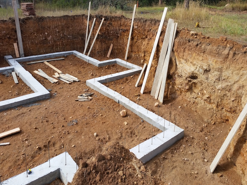 Residential Concrete Foundation Footing in El Paso County Colorado by PSF Company