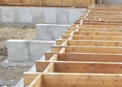 Concrete Foundation for Addition in El Paso County, Colorado Built by PSF Company
