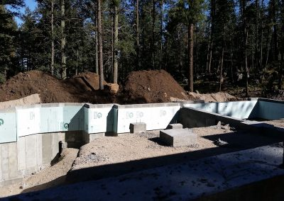 Full Concrete Foundation and Wall Header in El Paso County, Colorado Built by PSF Company