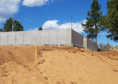 Concrete Foundation for Crawl Space in El Paso County, Colorado Built by PSF Company