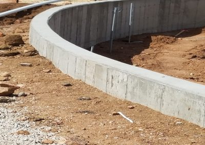 Concrete Curved Retaining Wall in El Paso County, Colorado Built by PSF Company