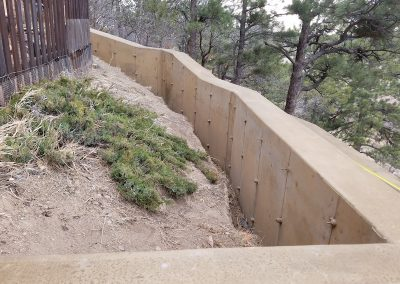 Concrete Colored Cement Retaining Wall in El Paso County, Colorado Built by PSF Company