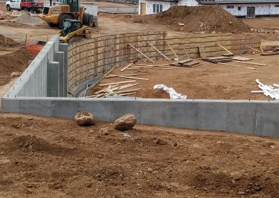 Concrete Retaining Wall and Foundation in El Paso County, Colorado Built by PSF Company