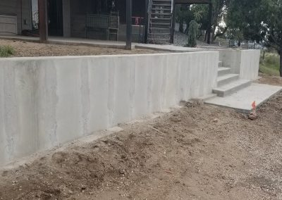 Concrete Retaining Wall and Steps in El Paso County, Colorado Built by PSF Company
