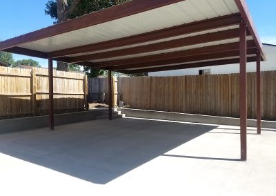 Concrete Carport Slab in El Paso County, Colorado Built by PSF Company