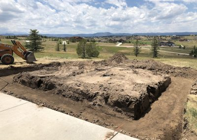 Concrete Before - Foundation for Garage in El Paso County, Colorado Built by PSF Company