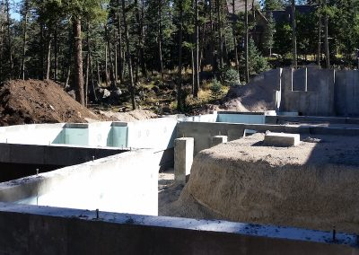 Residential House Foundation for Walkout Basement in El Paso County, Colorado Built by PSF Company