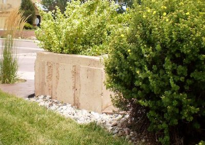 Concrete Landscape Planter in El Paso County, Colorado Built by PSF Company