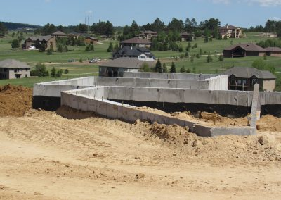 Concrete New Home Foundation Wall Header in El Paso County, Colorado Built by PSF Company