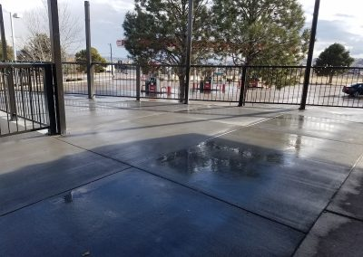 Commercial Concrete Patio in El Paso County, Colorado Built by PSF Company
