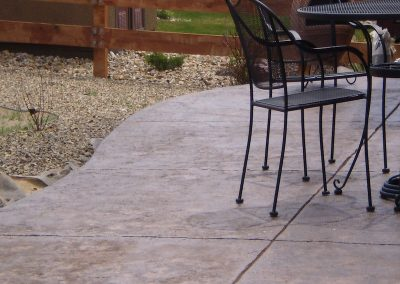 Concrete Stamped Patio in El Paso County, Colorado Built by PSF Company