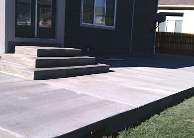 Concrete Patio and Stairs in El Paso County, Colorado Built by PSF Company