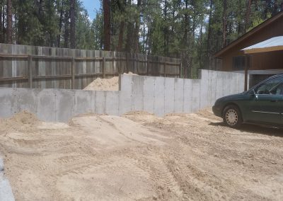 Concrete Retaining Wall in El Paso County, Colorado Built by PSF Company