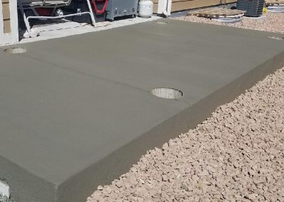 Concrete Patio Pergola Base in El Paso County Colorado Built By PSF Company